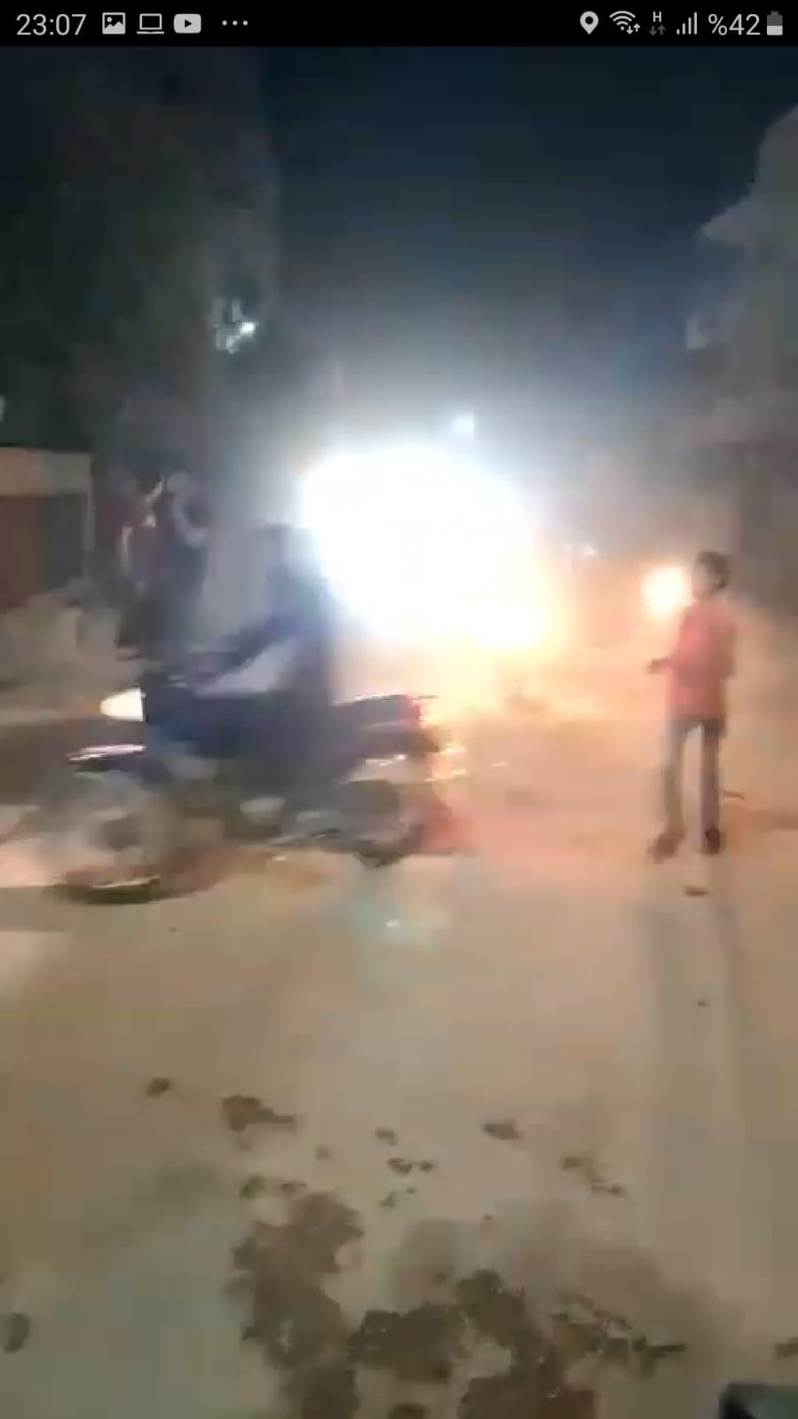 El Bab'daki Çobanbey kavşağında bulunan Cami yakınında patlama meydana geldi
