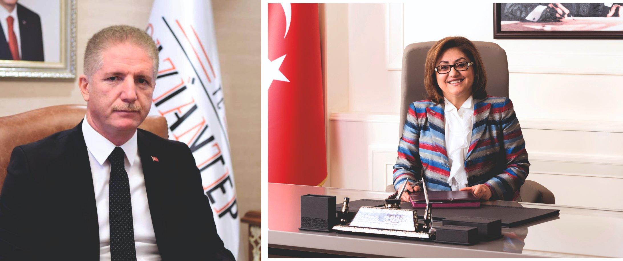 Vali Davut Gül ve Büyükşehir Belediye Başkanı Şahin'den Bayram kutlama mesajı