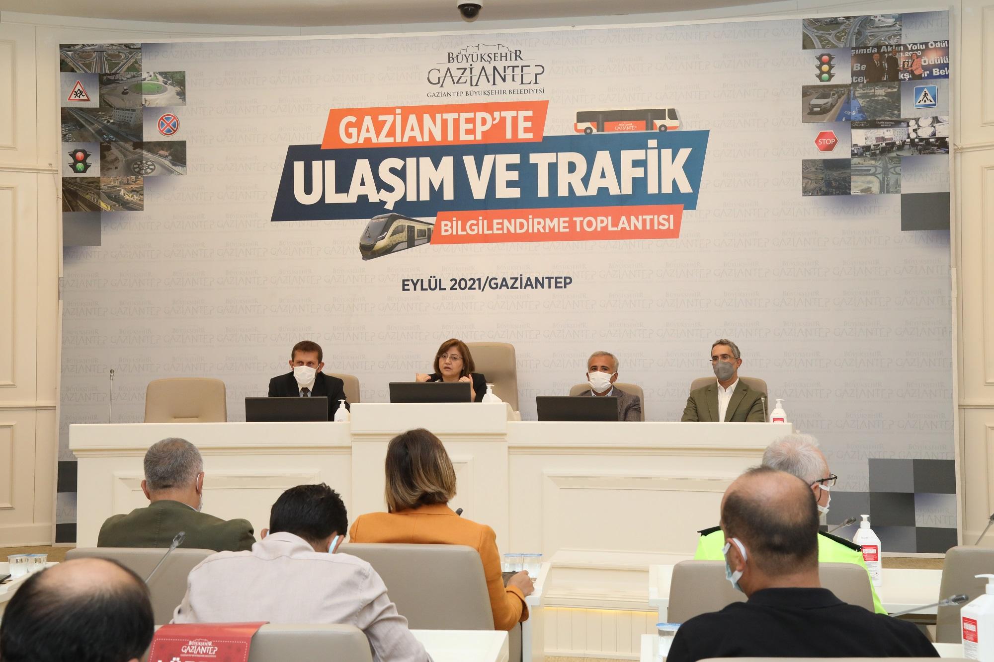 GAZİANTEP'TE ULAŞIM VE TRAFİK MASAYA YATIRILDI